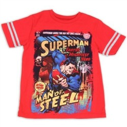 DC Comics Superman Saves The Day Yet Again Boys Shirt Free Shipping Houston Kids Fashion Clothing Store