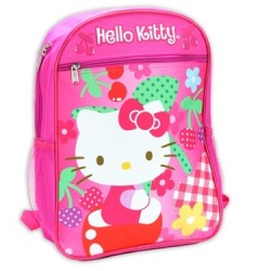 Hello Kitty Pink Flowery Kids School Backpack Adjustable Straps Houston Kids Fashion Clothing
