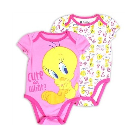 Looney Tunes Tweety Bird Cute or What 2 Pack Creeper Set Houston Kids Fashion Clothing Store