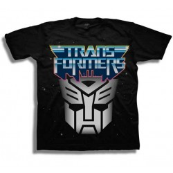 Transformers Autobot Black Short Sleeve T Shirt
