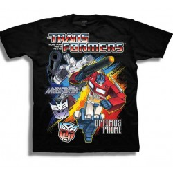 Transformers Megatron & Optimus Prime Black Boys Short Sleeve T Shirt Houston Kids Fashion Clothing Store