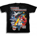 Transformers Megatron & Optimus Prime Black Short Sleeve T Shirt