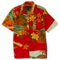 Street Rules Clothing Company Red Hawaiian Print Shirt