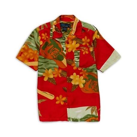 Street Rules Red Hawaiian Print Shirt