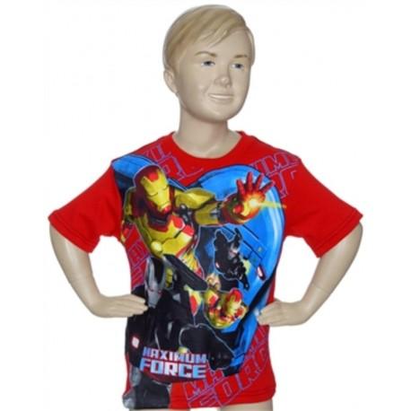 Avengers Iron Man Maximum Force Red Short Sleeve Shirt