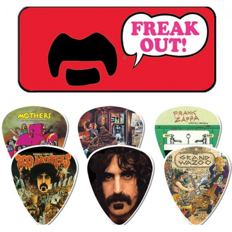 Dunlop Frank Zappa Red Collectors Tin & 6 Piece Guitar Picks Houston Kids Fashion Clothing Store