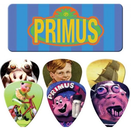 Dunlop Primus Logo Tin & 6 Piece Guitar Picks Houston Kids Fashion Clothing Store