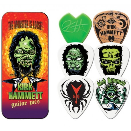 Dunlop Kirk Hammett Album Cover Tin & 6 Piece Guitar Picks Houston Kids Fashion Fashion Clothing Store