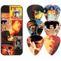 Jimi Hendrix Album Cover Tin & 6 Piece Guitar Picks