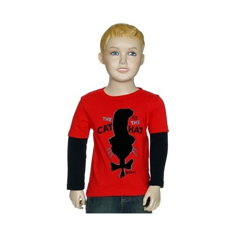 Dr Seuss The Cat In The Hat Silhouette Red Infant Boys Shirt Houston Kids Fashion Clothing