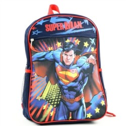 DC Comics Superman The Man of Steel Zippered Backpack Houston Kids Fashion Clothing