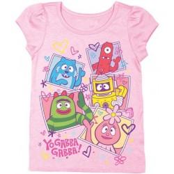 Yo Gabba Gabba Pink Puff Sleeve T Shirt