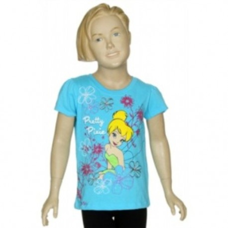 Tinker Bell Pretty Pixie Turqoise Short Sleeve T Shirt