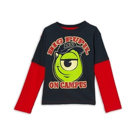 Monsters University Big Pupil On Campus Charcoal Boys Shirt