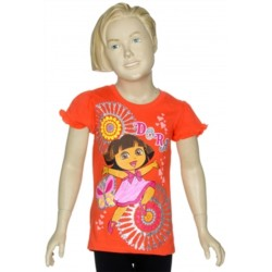 Nick Jr Dora The Explorer Coral Glitter Print Shirt