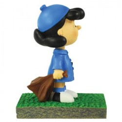 Peanuts Lucy Waiting At The Bus Stop Figurine