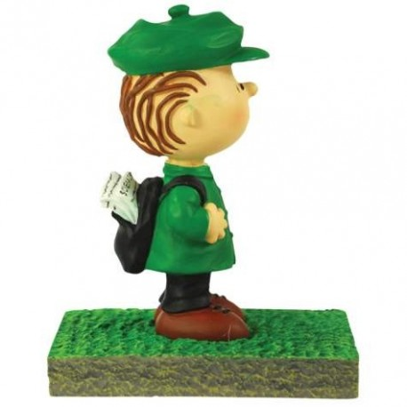 Peanuts Linus Waiting At The Bus Stop Figurine