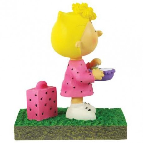 Peanuts Sally Waiting At The Bus Stop Figurine