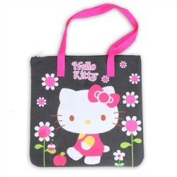 Hello Kitty Black Large Tote Bag