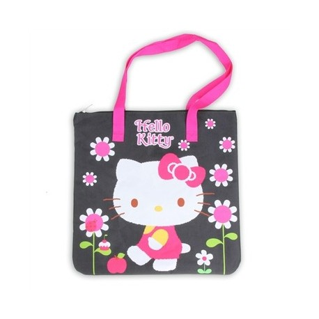 Hello Kitty Large Black Tote Bag