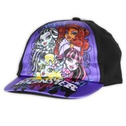 Monster High Girls Black & Purple Adjustable Toddler Cap