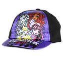Monster High Girls Black & Purple Adjustable Toddler Cap