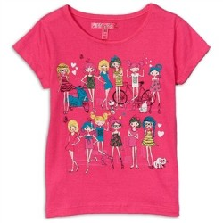 Cherrystix Pink Short Sleeve Top With Stylish Girls
