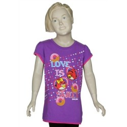 Angry Birds Love Is Sweet Girls Short Sleeve Shirt