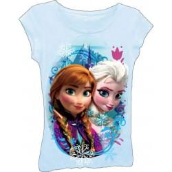 Disney Frozen Elsa and Anna Light Blue Top