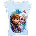 Disney Frozen Elsa and Anna Light Blue Top