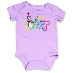 Dr Seuss Lilac Cat in the Hat Infant Creeper