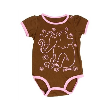 Dr Seuss Horton The Elephant Brown Onesie
