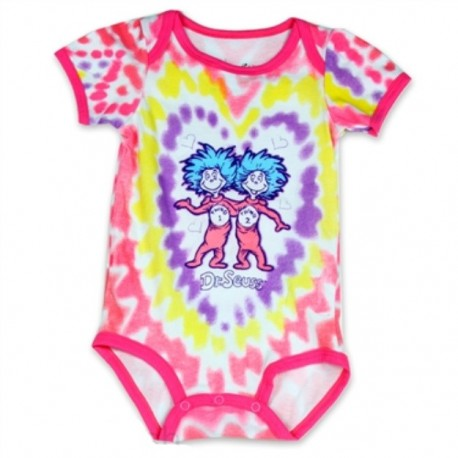 Dr Seuss Thing 1 & 2 Pink and Purple Onesie