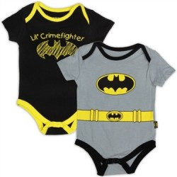 DC Comics Batman Lil Crimefighter 2 Pack Onesie Set Houston Kids Fashion Clothing Store