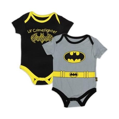 DC Comics Batman Lil Crimefighter 2 Pack Onesie Set Houston Kids Fashion Clothing Store