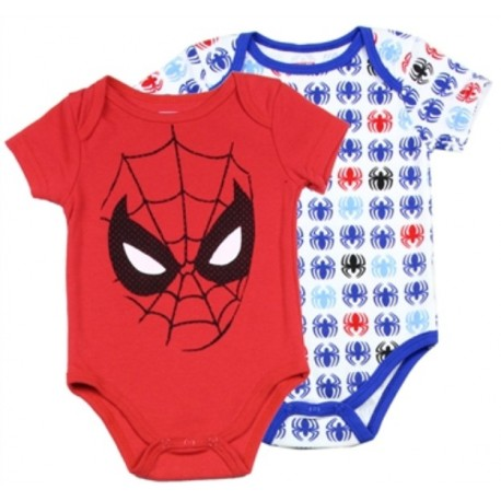 Marvel Comics Spider Man 2 Pack Creeper Set Houston Kids Fashion Clothing Store