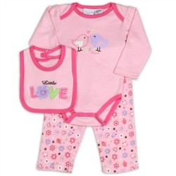 Kathy Ireland Pink Little Love 3 Piece Set