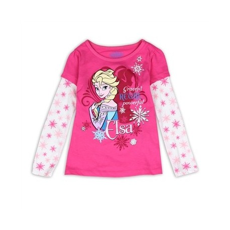 Disney Frozen Graceful Regal Powerful Elsa Pink Top