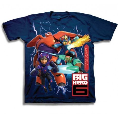 Disney Big Hero 6 Character Graphic T Shirt