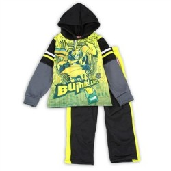 Transformers BumbleBee Boys Yellow Fleece Set