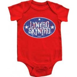 Lynrd Skynrd Southern Rock Legend Red Round Logo Onesie Free Shipping Houston Kids Fashion Clotihng Store
