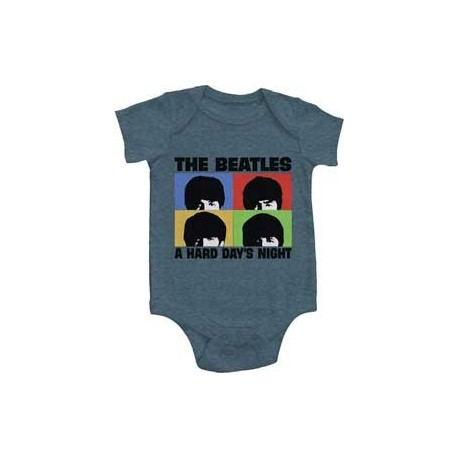 The Beatles Hard Days Night Grey Infant Onesie Free Shipping Houston Kids Fashion Clothing