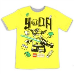 Lego Star Wars Yoda Boys Yellow Short Sleeve Graphic T Shirt