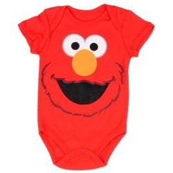 Sesame Street Red Elmo Infant Boys Onesie