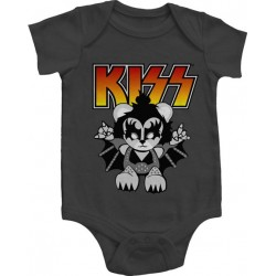 Kiss Lil Demon Grey Infant Onesie