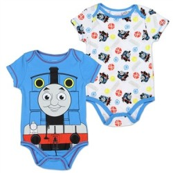 Thomas & Friends Blue Onesie & White Onesie Set Houston Kids Fashion Clothing Store