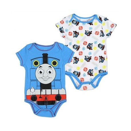 Thomas & Friends Blue Onesie & White Onesie