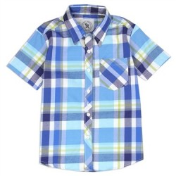 Street Rules Classic Blue Plaid Button Down Western Boys Shirt Houston Kids Fashion Clothing