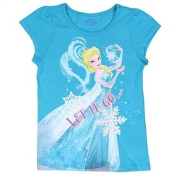 Disney Frozen Let It Go Turquoise Elsa Graphic T Shirt