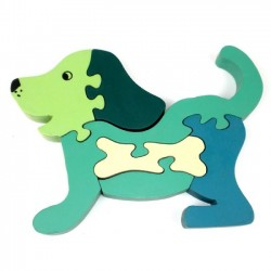 Handmade Puppy Dog Wooden Puzzle